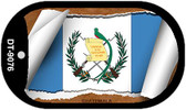"Guatemala Country Flag Scroll Dog Tag Kit 2"" Metal Novelty"