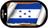 "Honduras Country Flag Scroll Dog Tag Kit 2"" Metal Novelty"