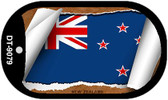 "New Zealand Country Flag Scroll Dog Tag Kit 2"" Metal Novelty"