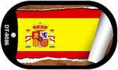 "Spain Country Flag Scroll Dog Tag Kit 2"" Metal Novelty"