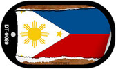 "Philippines Country Flag Scroll Dog Tag Kit 2"" Metal Novelty"