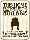 Bulldog Protected Metal Novelty Parking Sign