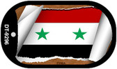 "Syria Country Flag Scroll Dog Tag Kit 2"" Metal Novelty"