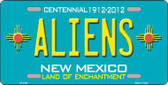 Aliens New Mexico Teal Novelty Metal License Plate LP-2793