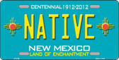 Native New Mexico Teal Novelty Metal License Plate LP-2794