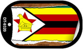 "Zimbabwe Country Flag Scroll Dog Tag Kit 2"" Metal Novelty"