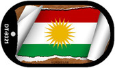 "Kurdistan Country Flag Scroll Dog Tag Kit 2"" Metal Novelty"