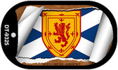 "Scotland St. Andrews Country Flag Scroll Dog Tag Kit 2"" Metal Novelty"