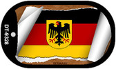 "Germany Country Flag Scroll Dog Tag Kit 2"" Metal Novelty"