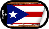 "Puerto Rico Country Flag Scroll Dog Tag Kit 2"" Metal Novelty"