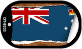 """Victoria Country Flag Scroll Dog Tag Kit 2"""" Metal Novelty"""