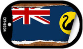 """West Australia Country Flag Scroll Dog Tag Kit 2"""" Metal Novelty"""