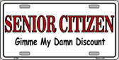 Senior Citizen Discount Metal Novelty License Plate LP-280