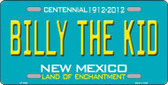 Billy The Kid New Mexico Teal Novelty Metal License Plate LP-2800