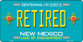 Retired New Mexico Teal Novelty Metal License Plate LP-2801
