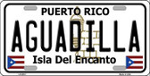 Aguadilla Puerto Rico Metal Novelty License Plate LP-2812