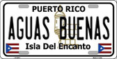 Aguas Buenas Puerto Rico Metal Novelty License Plate LP-2813