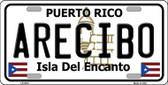 Arecibo Puerto Rico Metal Novelty License Plate LP-2816