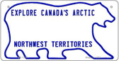 Canada NW Territories State Background Novelty Bicycle License Plate