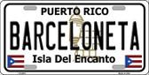 Barceloneta Metal Novelty License Plate LP-2818