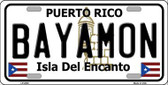 Bayamon Metal Novelty License Plate LP-2820
