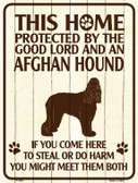 This Home Protected By An Afghan Hound Parking Sign Metal Novelty
