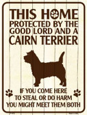 This Home Protected By A Cairn Terrier Parking Sign Metal Novelty