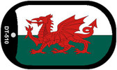 "Wales Country Flag Dog Tag Kit 2"" Metal Novelty"