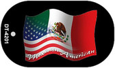 """Mexican American Country Flag Dog Tag Kit 2"""" Metal Novelty"""