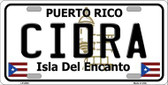 Cidra Metal Novelty License Plate LP-2830