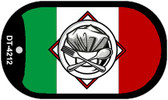 """Chef Italy Country Flag Dog Tag Kit 2"""" Metal Novelty"""