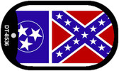 """Tennessee Confederate Country Flag Dog Tag Kit 2"""" Metal Novelty"""