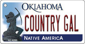 Country Gal Oklahoma Novelty Key Chain