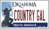 Country Gal Oklahoma Novelty Metal Magnet