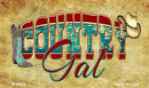 Country Gal Novelty Metal Magnet