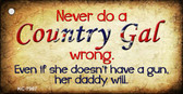 Country Gal Wrong Novelty Key Chain