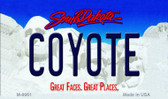 Coyote South Dakota State Background Magnet Novelty