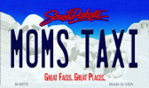 Moms Taxi South Dakota State Background Magnet Novelty