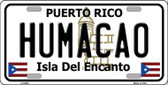 Humacao Puerto Rico Metal Novelty License Plate LP-2845