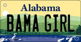 Bama Girl Alabama Background Key Chain Metal Novelty KC-9997