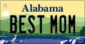 Best Mom Alabama Background Key Chain Metal Novelty