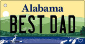 Best Dad Alabama Background Key Chain Metal Novelty