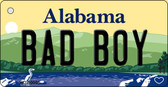 Bad Boy Alabama Background Key Chain Metal Novelty