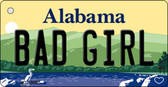 Bad Girl Alabama Background Key Chain Metal Novelty