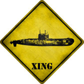 Submarine Xing Novelty Metal Crossing Sign