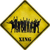 Teen Crowd Xing Novelty Metal Crossing Sign