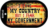 """Love my Country Dog Tag Kit 2"""" Metal Novelty"""