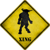Minotaur Xing Novelty Metal Crossing Sign