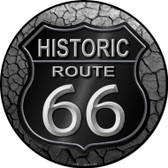 Historic Route 66 Novelty Metal Circular Sign