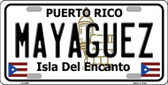 Mayaguez Puerto Rico Metal Novelty License Plate LP-2859